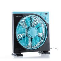 Podlahový ventilátor Box Fan InnovaGoods 3052, čierno-modrý