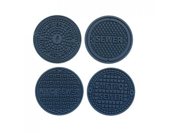 Podložky pod poháre INVOTIS Manhole, 4ks