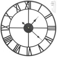 Retro nástenné hodiny, čierne, 47,5 cm
