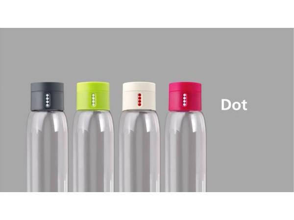 Fľaša s počítadlom plnenia JOSEPH JOSEPH Dot ™, 600ml, zelená