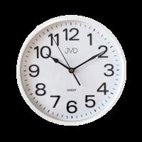 Nástenné hodiny JVD HP683,6 biele, sweep, 26cm