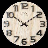 Nástenné hodiny drevené JVD HT97.4, 40cm