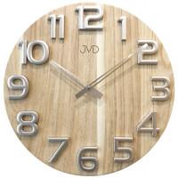 Nástenné hodiny drevené JVD HT97.2, 40cm