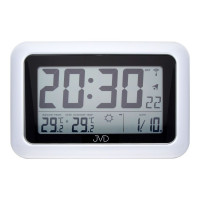 Rádiom riadené digitálne hodiny s budíkom JVD RB36.1, 28cm