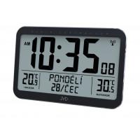 Rádiom riadené digitálne hodiny s budíkom JVD RB9385, 36 cm
