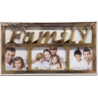 Fotorám na 3 fotky, Family bronz, 40x22cm