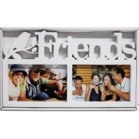Fotorám na 2 fotky Friends, biely
