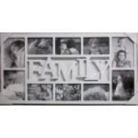 Fotorám na 10 fotiek, Family biely, 72x37cm