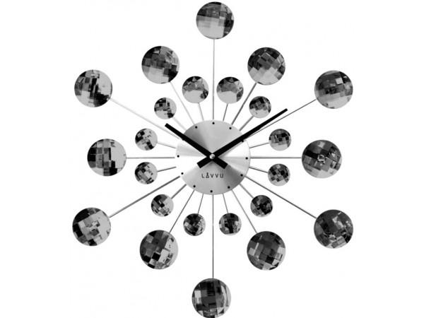 Nástenné hodiny LAVVU LCT1081 CRYSTAL Sunlight Antracit, 49 cm
