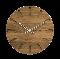 Dubové hodiny Vlaha strieborné ručičky VCT1021, 45cm