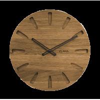 Dubové hodiny Vlaha s čiernymi ručkami VCT1022, 45cm