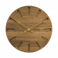 Dubové hodiny Vlaha zlaté ručičky VCT1020, 45cm