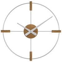 Drevené hodiny Vlaha VCT1051 strieborné, 50 cm