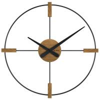 Drevené hodiny Vlaha VCT1052 čierne, 50 cm