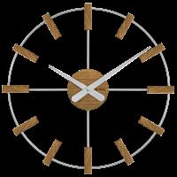 Drevené hodiny Vlaha VCT1061 strieborné, 50 cm