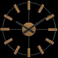 Drevené hodiny Vlaha VCT1062 čierne, 50 cm