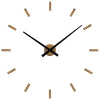 Dubové nalepovacie hodiny VLAHA Minimal VCT1042