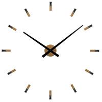 Dubové nalepovacie hodiny VLAHA Minimal s kameňmi VCT1043