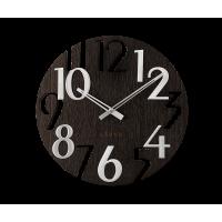 Nástenné hodiny Lavvu LCT1010 STYLE Black Wood, 40cm
