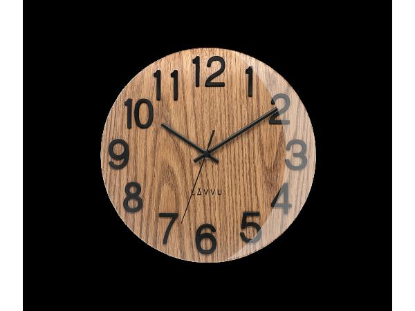 Nástenné hodiny Lavvu LCT1060 NORD Black Oak, 30cm
