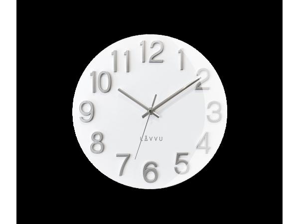 Nástenné hodiny Lavvu LCT1061 NORD White, 30cm
