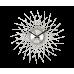 Nástenné hodiny LAVVU LCT1050 CRYSTAL Lines, Strieborné, 49 cm