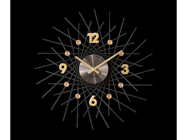 Nástenné hodiny LAVVU LCT1051 CRYSTAL Lines, Antracit, 49 cm