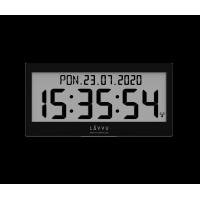Digitálne hodiny s češtinou LAVVU MODIG riadené rádiovým signálom LCX0011 37cm