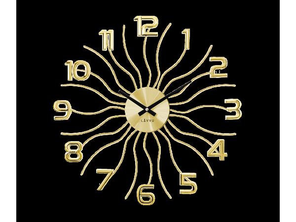 Nástenné hodiny LAVVU Sun LCT1221 zlaté, 49 cm