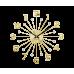Nástenné hodiny LAVVU Sun LCT1231 zlaté, 49 cm
