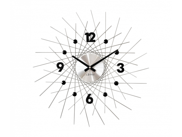 Nástenné hodiny LAVVU LCT1052 CRYSTAL Lines, 49 cm