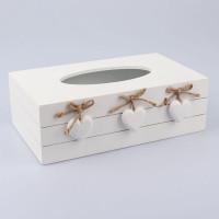 Krabička na papierové vreckovky, Srdiečka, D081