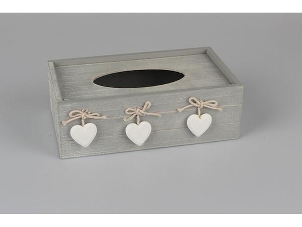 Krabička na papierové vreckovky, Srdiečka, D086