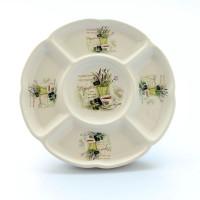 Servírovací tanier porcelánový, levandula, 24cm