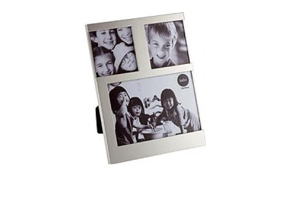 Stolný fotorámik Balvi Dijon, 1x 10x10cm / 2x 7,7x7,7cm, strieborný
