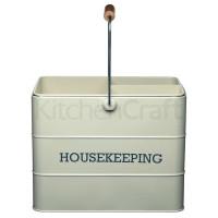 Upratovacia nádoba KITCHEN CRAFT Housekeeping Tin, krémová