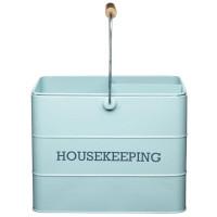 Upratovacia nádoba KITCHEN CRAFT Housekeeping Tin, modrá