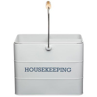 Upratovacia nádoba KITCHEN CRAFT Housekeeping Tin, sivá