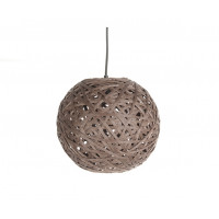 Závesná lampa Leitmotiv Nest round medium dark brown, 30cm