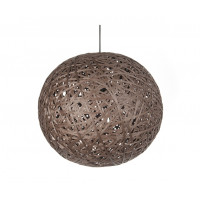 Závesná lampa Leitmotiv Nest round large dark brown, 50cm