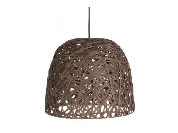 Závesná lampa Leitmotiv Nest cone large dark brown, 40cm