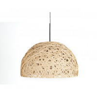 Závesná lampa Leitmotiv Nest dome large natural, 40cm