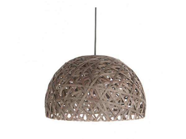 Závesná lampa Leitmotiv Nest dome large dark brown, 40cm