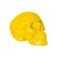 Pokladnička Lebka žltá 19cm