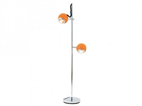 Podlahová lampa Leitmotiv, RETRO, oranžová, 150cm