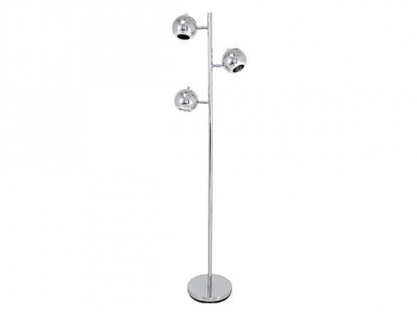 Podlahová lampa Leitmotiv RETRO 3, chróm 168cm