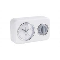 Kuchynské hodiny s časovačom Present Time Nostalgia, PT3375WH, 17cm