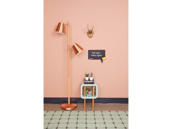 Podlahová lampa Leitmotiv Rubi 150cm, brushed copper
