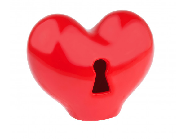 Pokladnička - srdce na kľúčik, 15cm