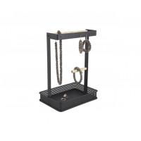 Držiak šperkov Jewellery Square, kovový čierny, PT3347BK